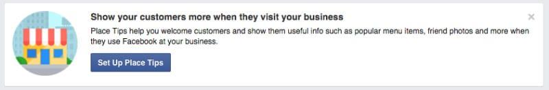 Proximity marketing facebook