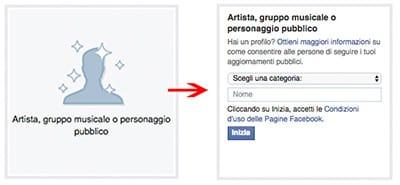 dati pagina facebook artista