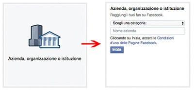 dati pagina facebook azienda