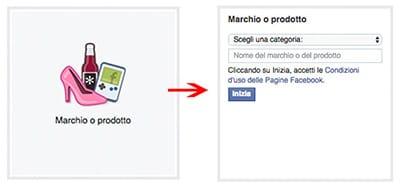dati pagina facebook marchio