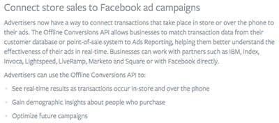 Transazioni offline facebook