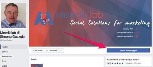 personalizzare pulsante Facebook da desktop