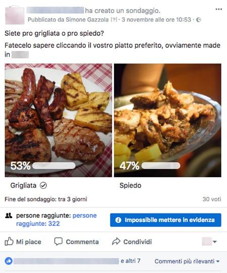 post fb sondaggio layout