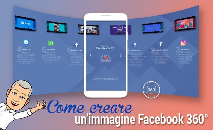 Come creare una immagine a 360° per Facebook