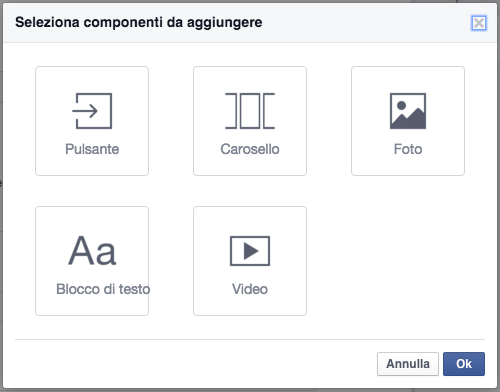 componenti canvas facebook
