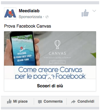 facebook canvas by meedialab
