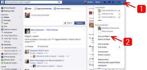 come creare la nuova pagina facebook