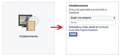 dati pagina facebook intrattenimento