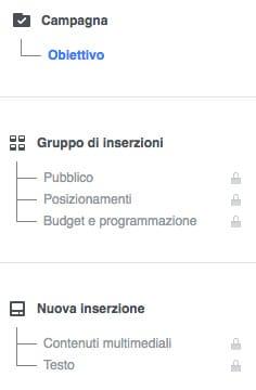 step realizzazione campagna facebook ADS