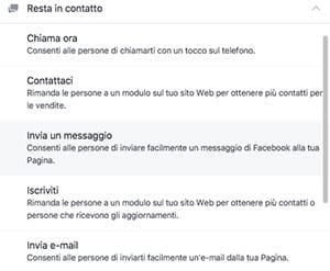 Categoria pulsanti per restare in contatto su FB