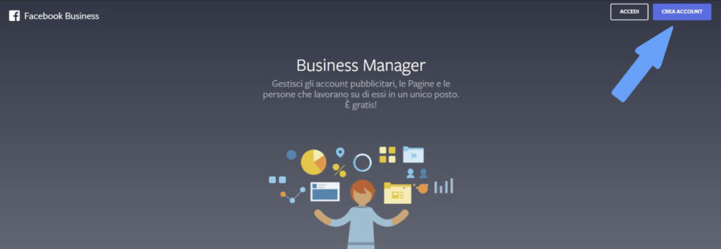 creazione account business manager